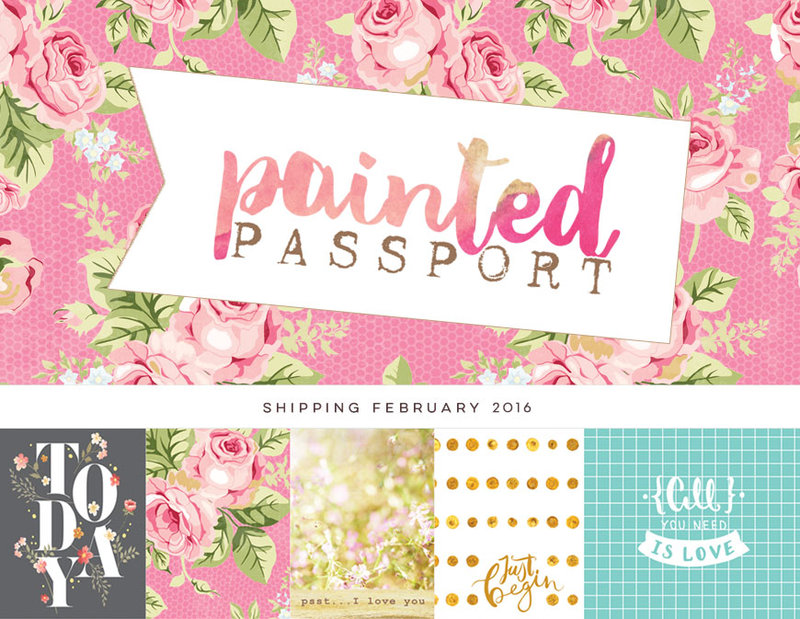 Beautiful new Painted Passport from Websters Pages