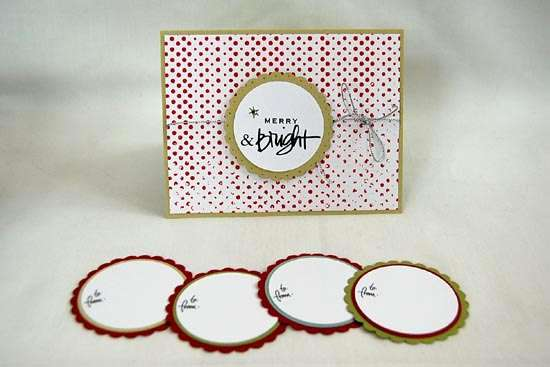 Merry & Bright Holiday Card & Tags