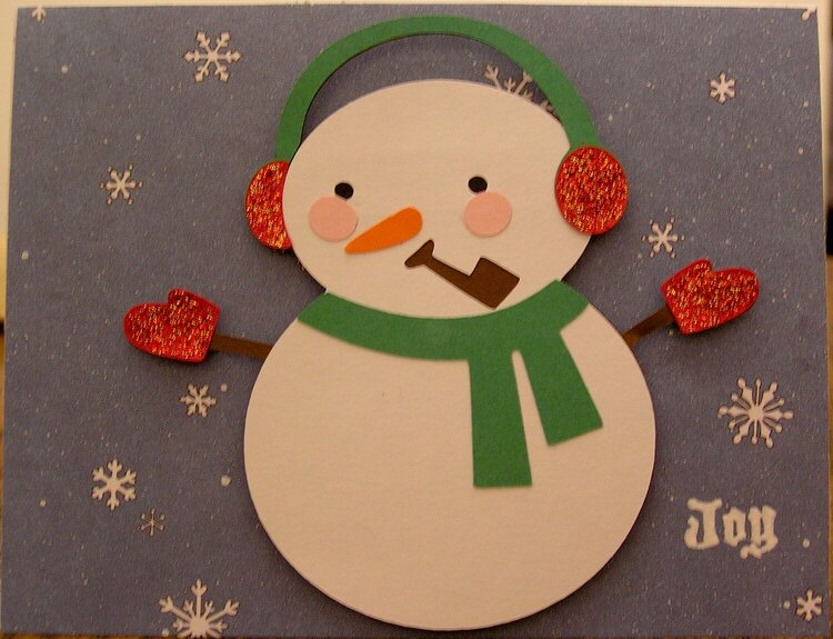 Snowman Card with SnowflakesA
