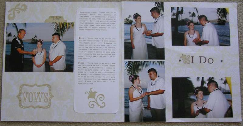 Wedding Vows 2 Page Layout