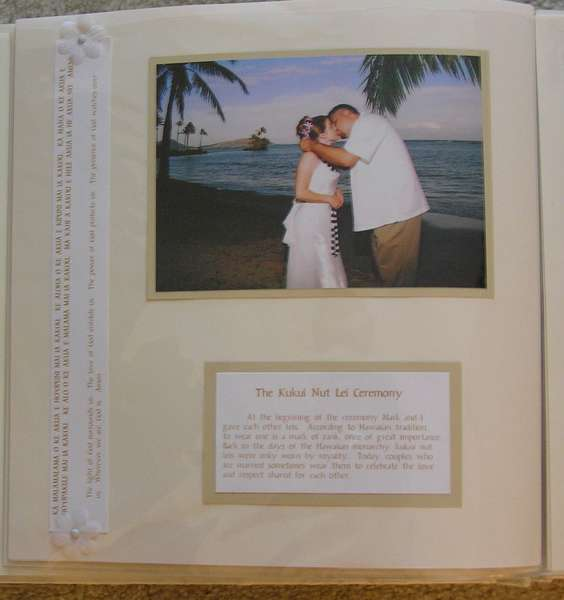 Wedding Scrapbook - Kukui Nut Lei Ceremony