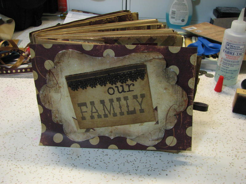 Our Family - an paper bag album