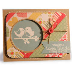 Two little Love birds card