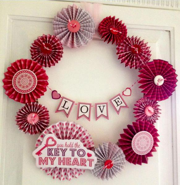 Crazy for You Love Wreath by Lisa Spiegel