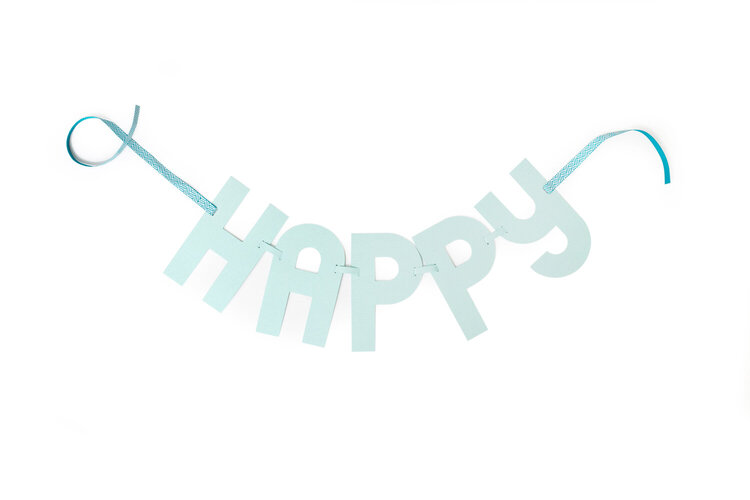 Happy featuring the new We R Alphabet Punch Board and Link Punch