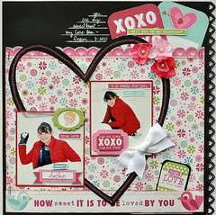 XOXO by Alicia Giess featuring Love Struck by We R Memory Keepers