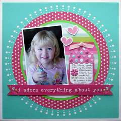 Adore by Aly Keeler Dosdall featuring Love Struck and Lucky 8 Punch by We R Memory Keepers