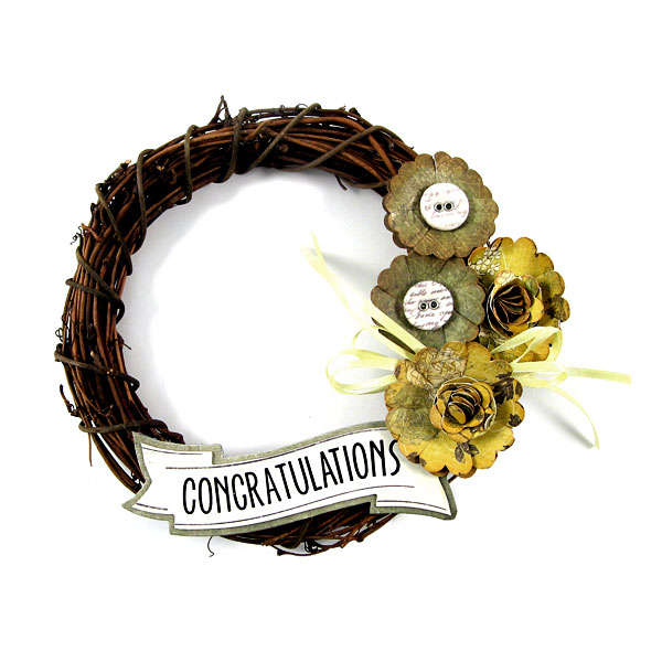 Congratulations featuring Antique Chic from We R Memory Keepers