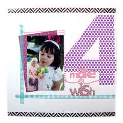 Make a Wish Featuring new Washi Sheets from We R Memory Keepers