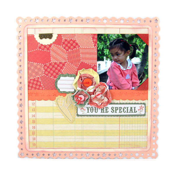 """Family Keepsake """"You're Special"""" Layout"""