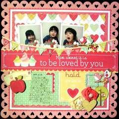 Love You Scrapbook Page by Kaori Fujimo