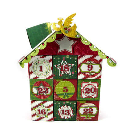 Peppermint Twist Advent House