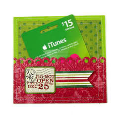 Holiday Gift Card Holder Using Peppermint Twist from We R