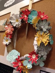 Look at the Beauty you can make with the Flower Punch Board from We R Memory Keepers