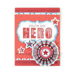 You're My Hero featuring We R Memory Keepers Red White and Blue