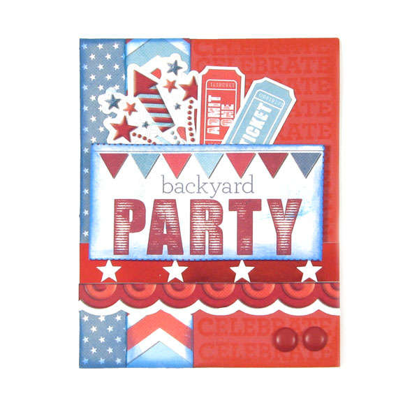 Backyard Party featuring Red White and Blue from We R Memory Keepers
