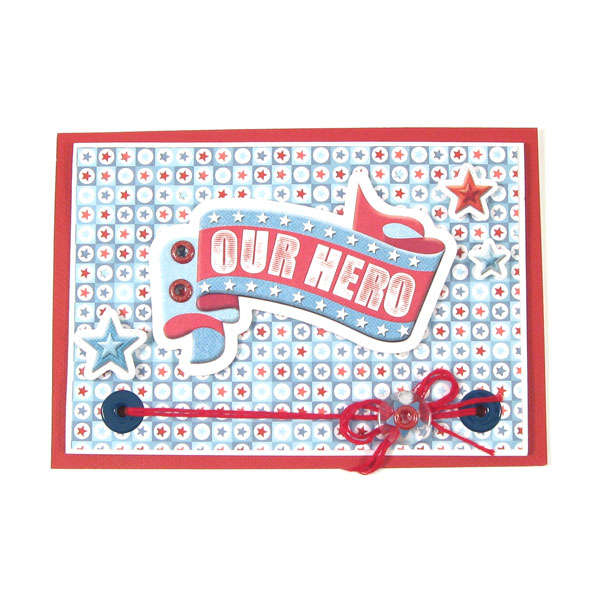 Our Hero featuring Red White and Blue from We R Memory Keepers