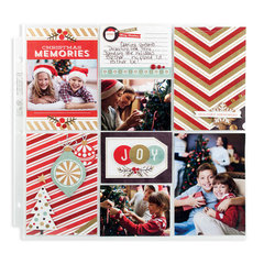 Christmas Memories Pocket Page using Silver and Gold from We R Memory Keepers