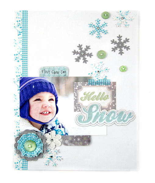 Hello Snow featuring the new Tab Punches from We R Memory Keepers