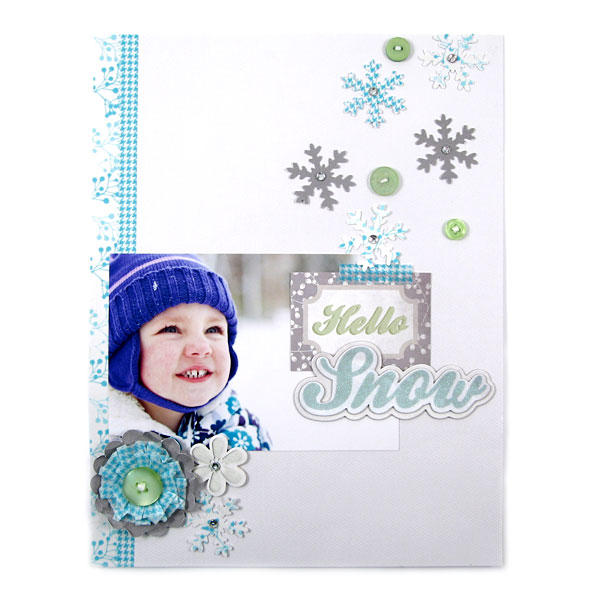 Hello Snow featuring Winter Frost from We R Memory Keepers