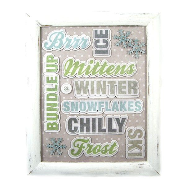Winter Frame featuring Winter Frost from We R Memory Keepers