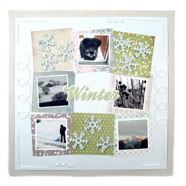 Winter featuring Winter Frost from We R Memory Keepers