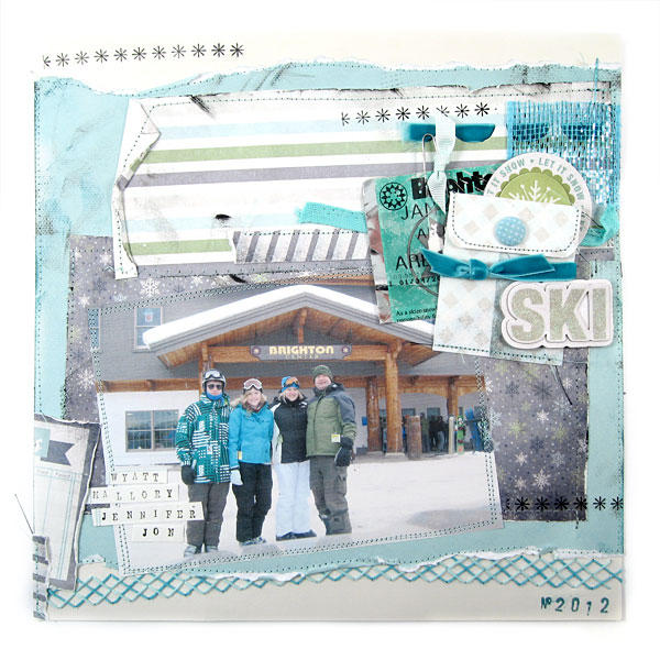 Ski featuring Winter Frost from We R Memory Keepers