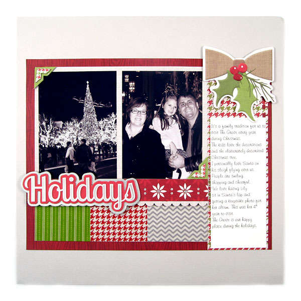 Holidays Featuring new Washi Sheets from We R Memory Keepers