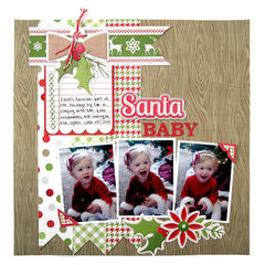 Santa Baby featuring Yuletide from We R Memory Keepers