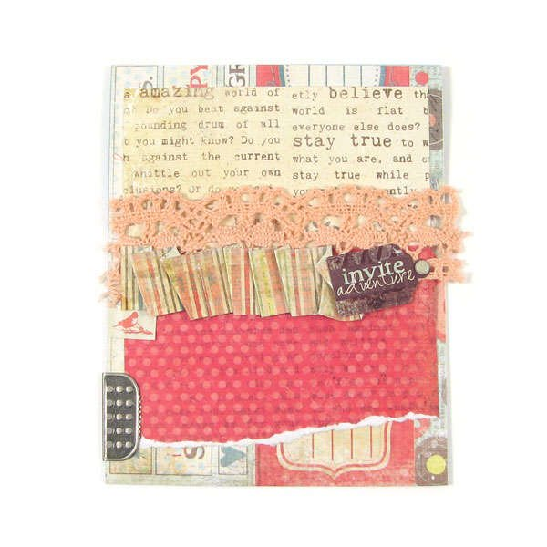 Invite using Anthologie from We R Memory Keepers