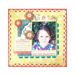 You Are Beautiful featuring Anthologie and Sew Ribbon from We R Memory Keepers