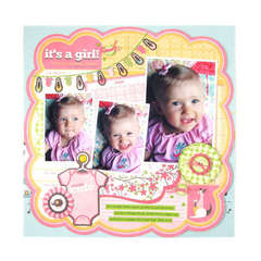 Its a Girl featuring Baby Mine from We R Memory Keepers