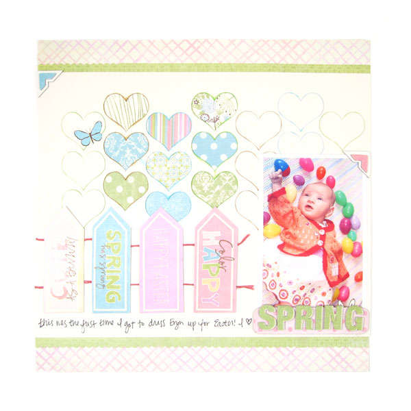 Spring featuring Cotton Tail Collection from We R Memory Keepers