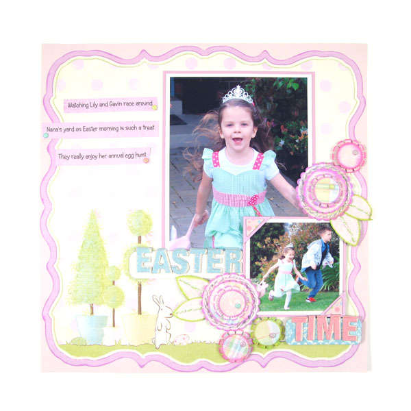 Easter Time featuring Cotton Tail Collection from We R Memory Keepers