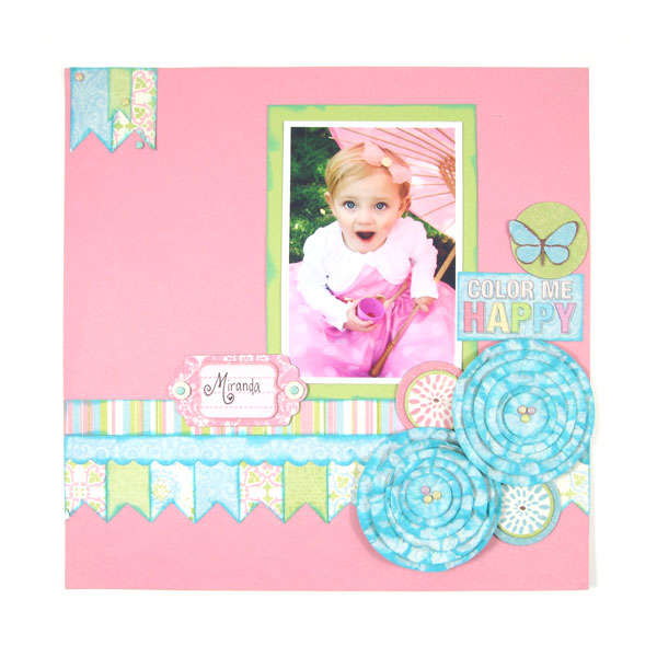 Color me Happy Featuring Cotton Tail by We R Memory Keepers