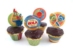 Fiesta Cupcake Wraps & Toppers