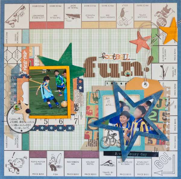 Fun by Kyoko Kobayashi featuring Travel Lite by We R Memory Keepers
