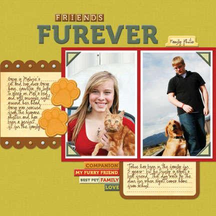Friends Furever 12x12 layout