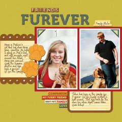 Friends Furever 12x12 layout