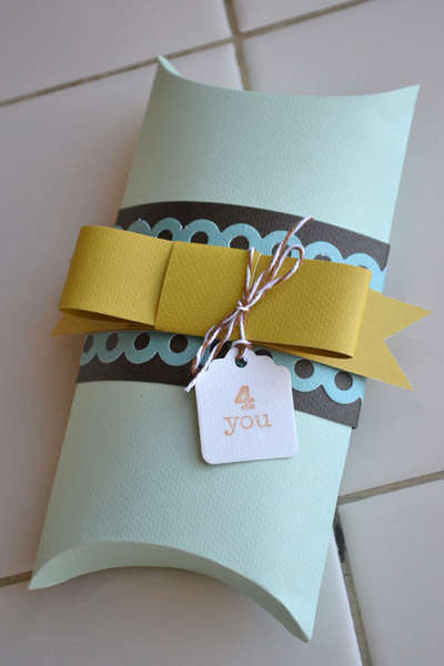 Pillow Box featuring new We R Memory Keepers Bakers Twine