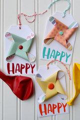 We R Memory Keepers Pinwheel Letterpress Tags