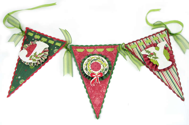 Joy Banner Featuring We R Sew RIbbon