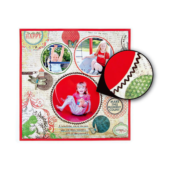 What fun you can have with the new Sew Circle tool from We r Memory Keepers