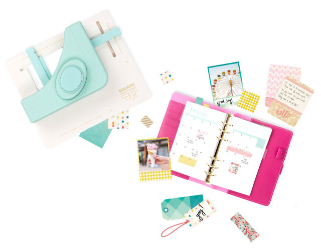 Personalized Planner Squares with the Square Punch Board