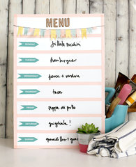 Washi Tape Menu Planner