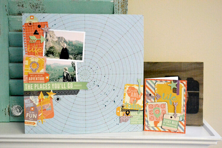Travel LO and Card by We R Designer Ally Dosdall