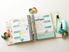 Planner Spread with the Washi Chomper