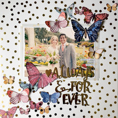 Wedding Layout by Tessa Buys for We R featuring the Magnetic Staple Board