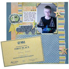 You are Amazing featuring We R Memory Keepers Corner Mounter
