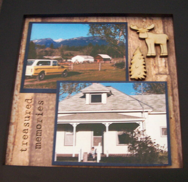 Altered Collage Frame - Montana
